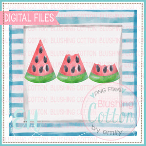 WATERMELON TRIO BITTEN IN FRAME DESIGN   BCEH