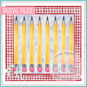 YELLOW PENCILS IN FRAME DESIGN   BCEH