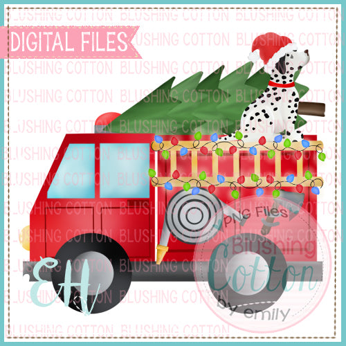 FIRETRUCK WITH CHRISTMAS DALMATION   BCEH
