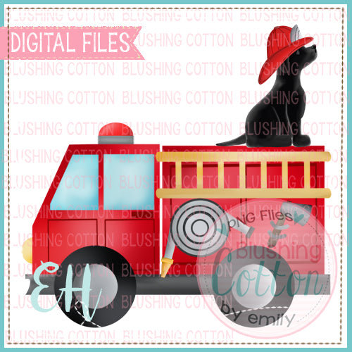 FIRETRUCK WITH BLACK LAB - BCEH