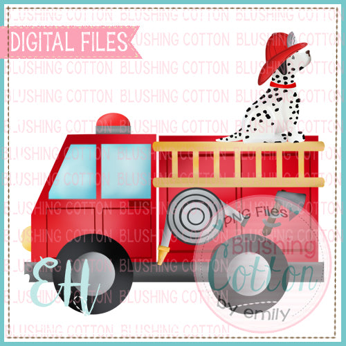 FIRETRUCK WITH DALMATIAN - BCEH