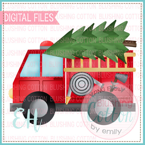 FIRETRUCK WITH TREE - BCEH