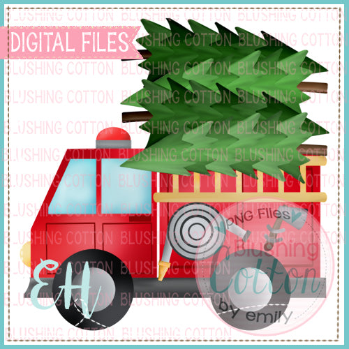 FIRETRUCK WITH TREES - BCEH