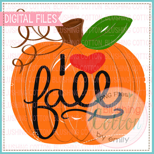 !! FREE DESIGN!!  I LOVE FALL PUMPKIN WATERCOLOR DESIGN BCEH