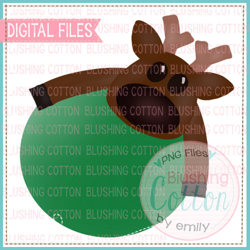 REINDEER HUGGING CIRCLE WATERCOLOR DESIGN BCEH