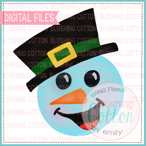HAPPY HAT SNOWMAN WATERCOLOR DESIGN BCEH