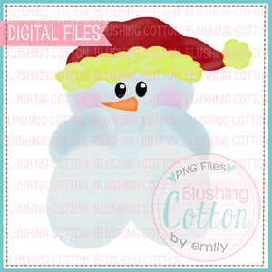 BABY CHRISTMAS SNOWMAN WATERCOLOR DESIGN BCEH