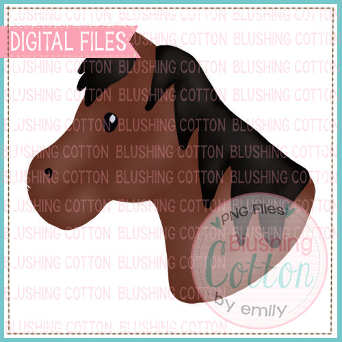 HORSE BROWN WATERCOLOR DESIGN BCEH