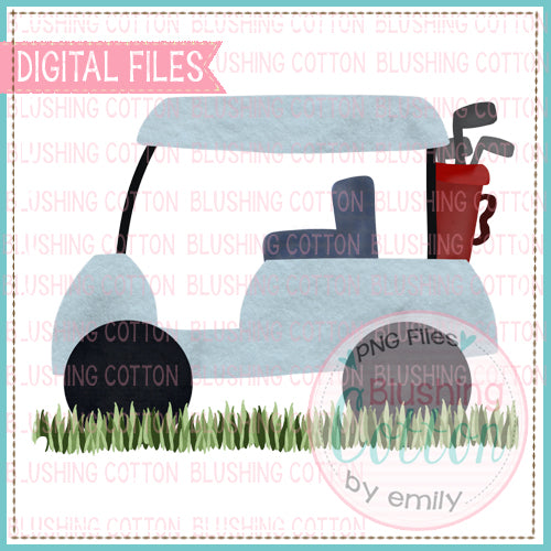 GOLF CART WITH GRASS WATERCOLOR DESIGN BCEH