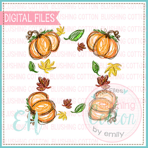 PUMPKIN CRAYON WREATH WATERCOLOR DESIGNS BCEH