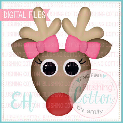 EXCITED RED NOSE REINDEER GIRL - BCEH