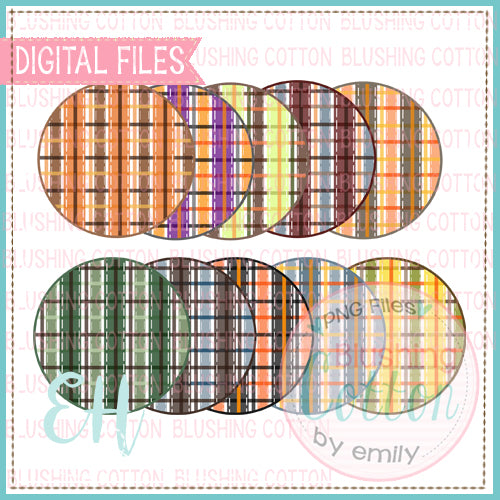 FALL PLAID CIRCLE BACKGROUND SET 1  BCEH