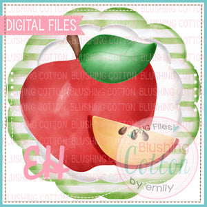APPLE SLICE STRIPE SCALLOP DESIGN    BCEH