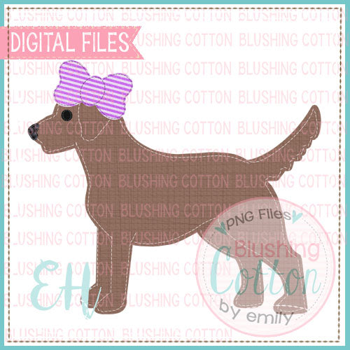 VINTAGE CHOCOLATE LAB GIRL DESIGN  BCEH