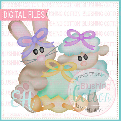 WATERCOLOR EASTER GIRL FRIENDS DESIGN  BCEH