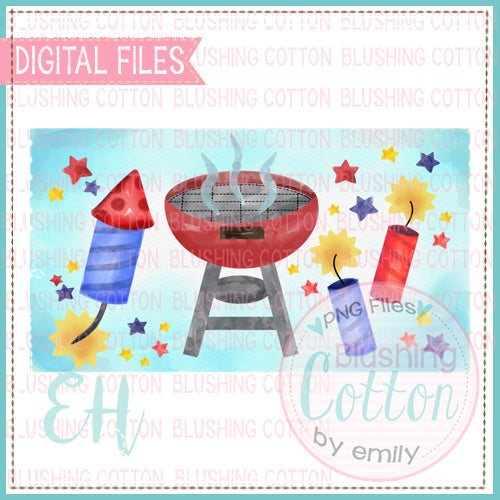 WATERCOLOR PATRIOTIC GRILLING DESIGN   BCEH