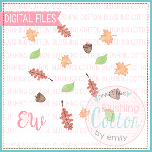 FALLING LEAVES ADD ON DESIGN WATERCOLOR PNG BCEW