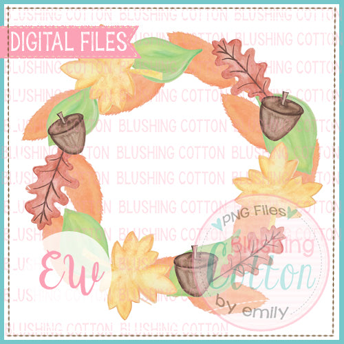 FALL LEAVES WREATH - BCEW
