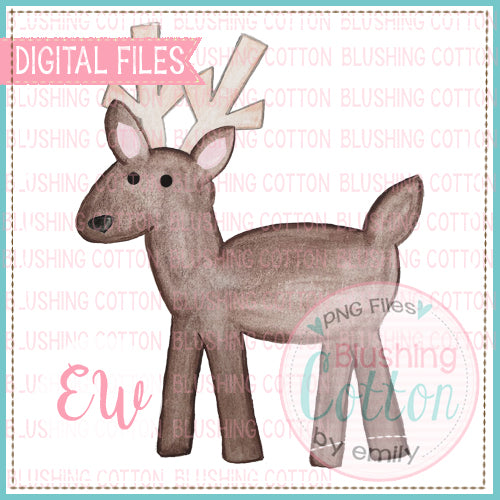 REINDEER1 WATERCOLOR PNG BCEW