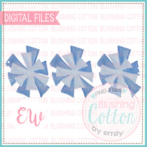 POMPOMS LIGHT BLUE TRIO DESIGN WATERCOLOR PNG BCEW
