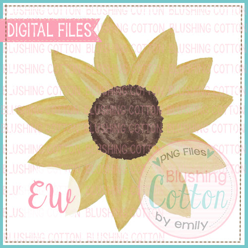 SUNFLOWER DESIGN WATERCOLOR PNG BCEW