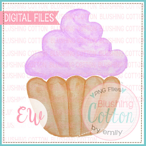 CUPCAKE PURPLE DESIGN WATERCOLOR PNG BCEW