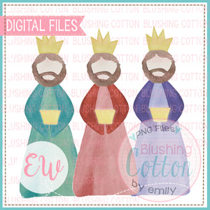 WE THREE KINGS WATERCOLOR DESIGN BCEW