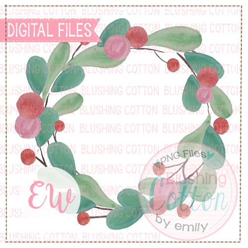 WREATH HOLLY BERRIES BCEW