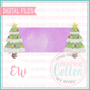 CHRISTMAS TREE ENDS NAME PLATE BCEW