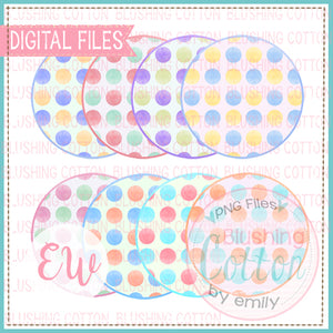 MULTICOLORED DOT CIRCLE BACKGROUNDS BCEW