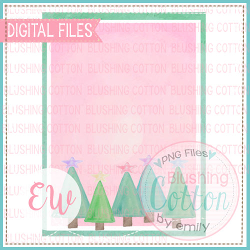 CHRISTMAS TREE FARM FRAME INVITATION BCEW