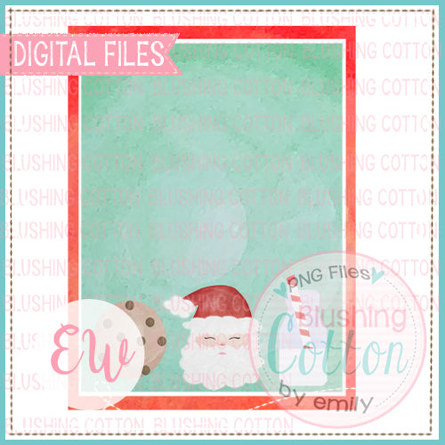 SANTA MILK AND COOKIES FRAME INVITATION BCEW