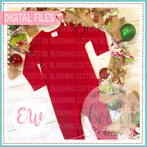 ARB RED ROMPER CHRISTMAS MOCK UP FLAT LAY PHOTO BCEW