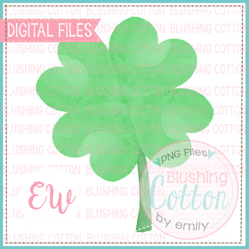 FOUR LEAF CLOVER WATERCOLOR DESIGN BCEW