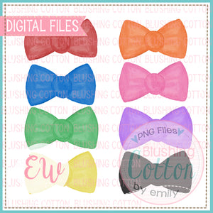 BOW TIE SET WATERCOLOR DESIGN BCEW