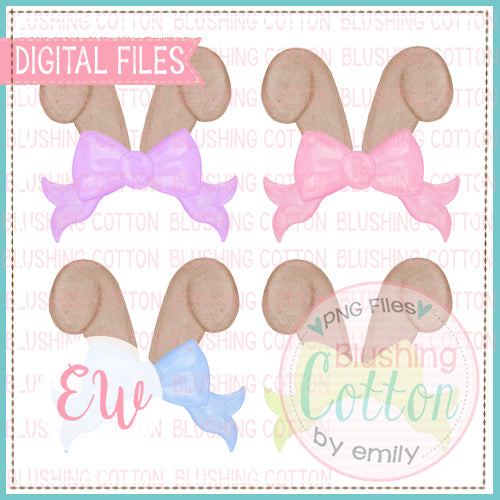 BUNNY EARS TOPPER SET WATERCOLOR DESIGN BCEW