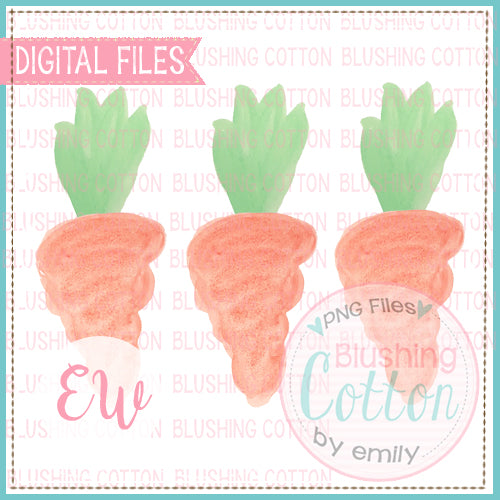 CARROT TRIO WATERCOLOR DESIGN BCEW