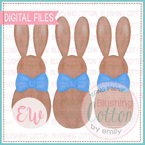 BOY BUNNY TRIO WATERCOLOR DESIGN BCEW