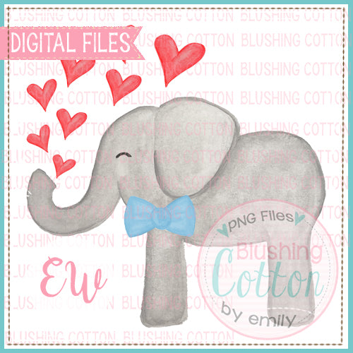 VALENTINES DAY ELEPHANT WATERCOLOR DESIGN BCEW