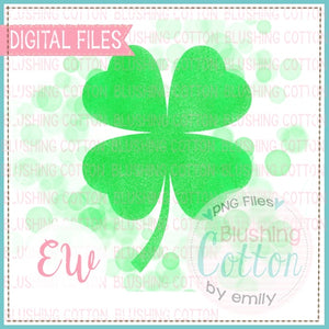 SPLATTER CLOVER WATERCOLOR DESIGN BCEW