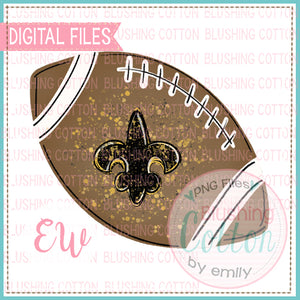 FOOTBALL WITH FLEUR DE LIS WATERCOLOR DESIGN BCEW