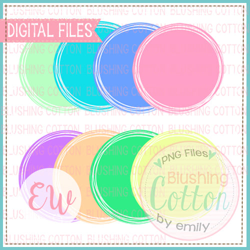 SCRIBBLE CIRCLE FRAME SET SPRING COLORS BCEW