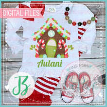 Load image into Gallery viewer, BB BLANKS GIRLS RUFFLE TOP AND RED WHITE STRIPE RUFFLE PANTS CHRISTMAS MOCK UP PHOTO BCJZ