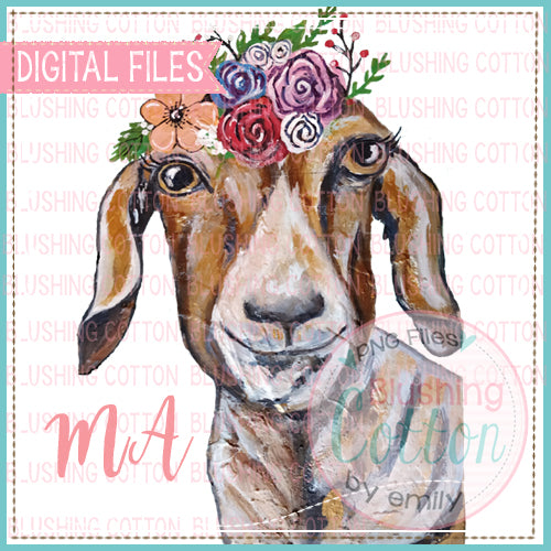 GOAT WITH FLOWER CROWN BCMA
