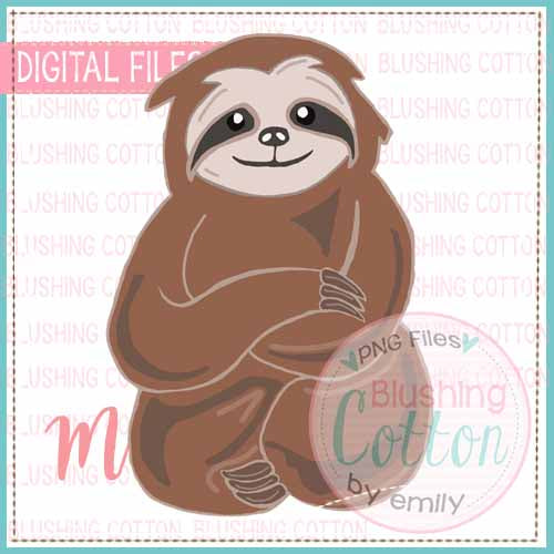 SLOTH WATERCOLOR DESIGN BCMA