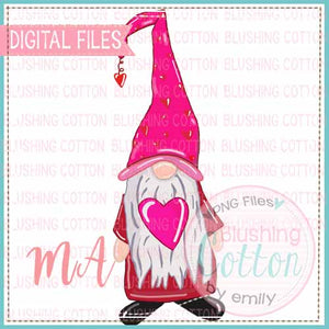 VALENTINES DAY GNOME WATERCOLOR DESIGN BCMA