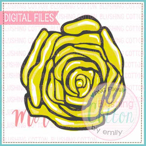 YELLOW ROSE WATERCOLOR DESIGN BCMA