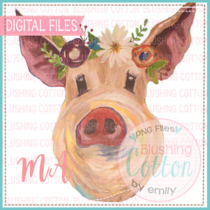 PIG WITH FLOWER CROWN BCMA