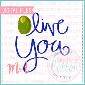 OLIVE YOU WATERCOLOR DESIGN BCMA
