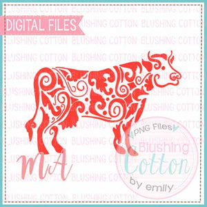 COW RED WATERCOLOR DESIGN BCMA